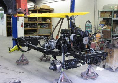 1987 CJ7 Jeep Chassis being assembled